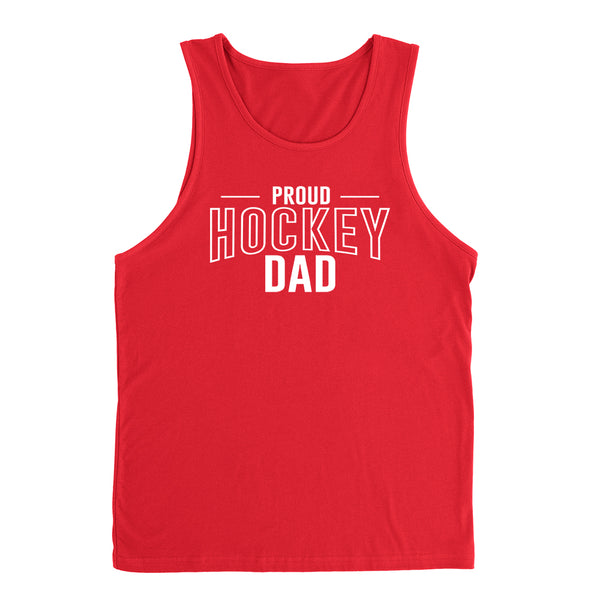 Proud hockey dad hockey team squad game day sport dad love hockey Father's day Tank Top