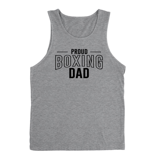 Proud boxing dad  team squad game day sport dad  love box Father's day Tank Top