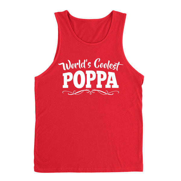 World's coolest poppa Father's day birthday gift ideas for new grandpa proud grandfather gifts for him Tank Top