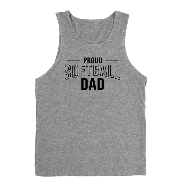 Proud softball dad  team squad game day sport dad love softball  Father's day Tank Top