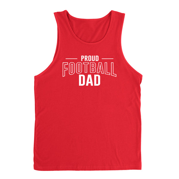 Proud football dad  team squad game day sport dad  love football  Father's day Tank Top