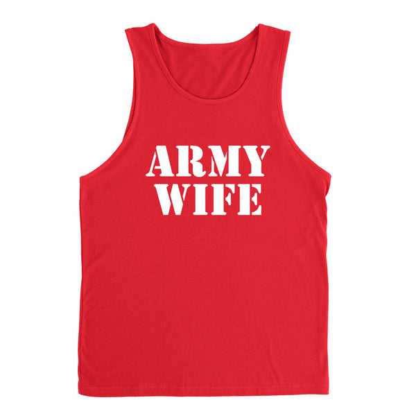 Army wife, gift for anniversary, proud army wifey Tank Top