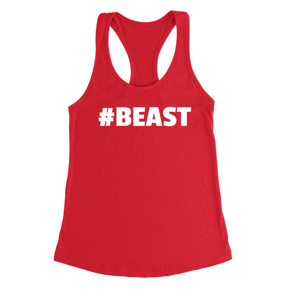 Beast funny cool trending gift ideas for her for him humor joke gift matching couple Ladies Racerback Tank Top