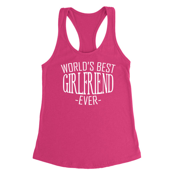 World's best girlfriend ever   birthday christmas holiday gift ideas  for her Ladies  Racerback Tank Top