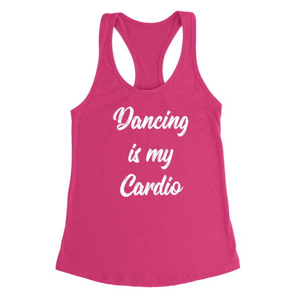 Dancing is my cardio sport funny cool love dancing birthday gift for him for her  Ladies Racerback Tank Top