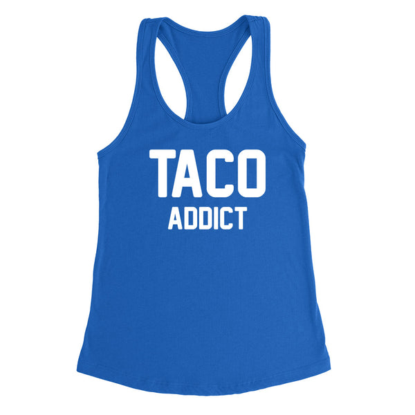 Taco addict Ladies Racerback Tank Top