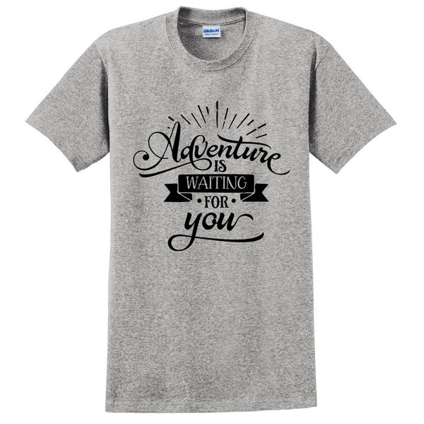 Adventure is waiting for you t shirt funny cool cute fashion graphic tee
