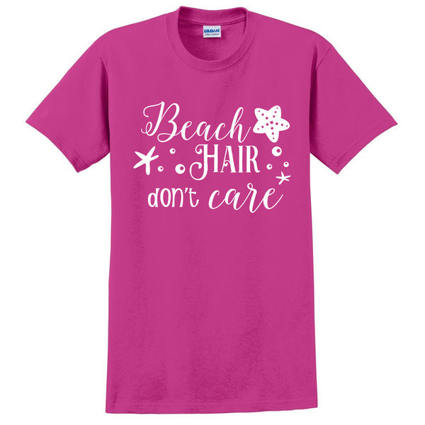 Beach hair don't care t shirt summer vacation shirt surfing surfer tee cool unisex tees birthday gift