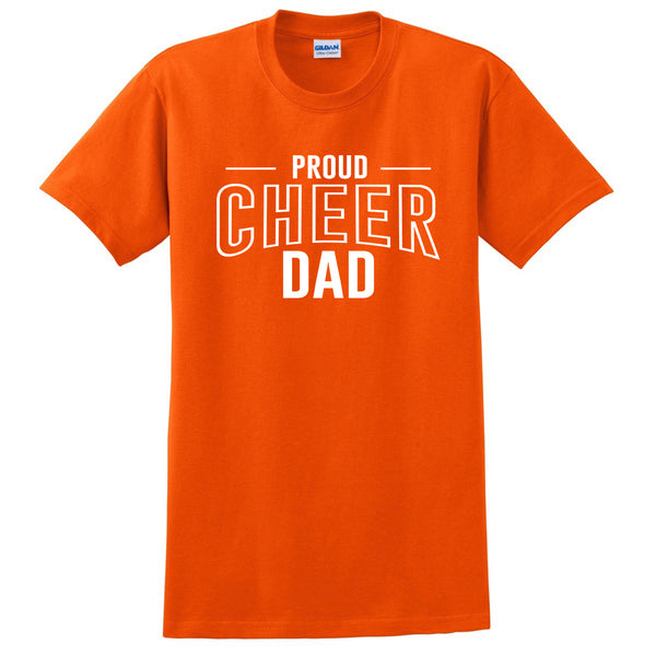 Proud cheer dad  team squad game day sport dad  love cheerleading Father's day T Shirt