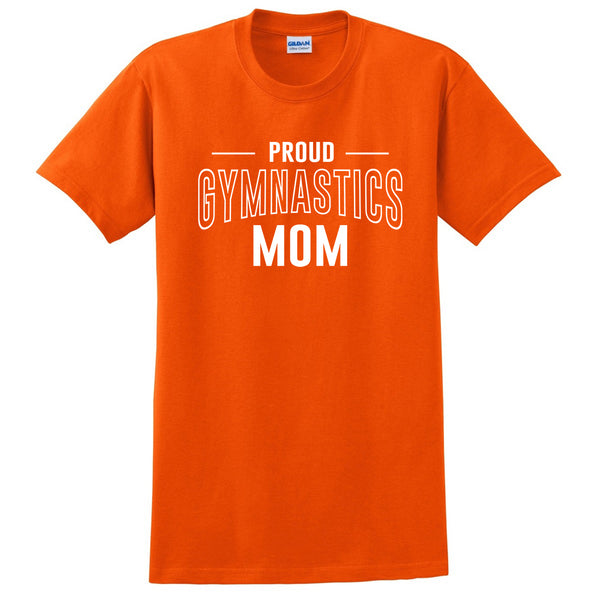 Proud gymnastics mom team squad game day sport mom love gymnastics  Mother's day T Shirt