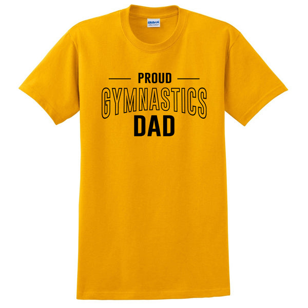 Proud gymnastics dad  team squad game day sport dad  love gymnastics  Father's day T Shirt