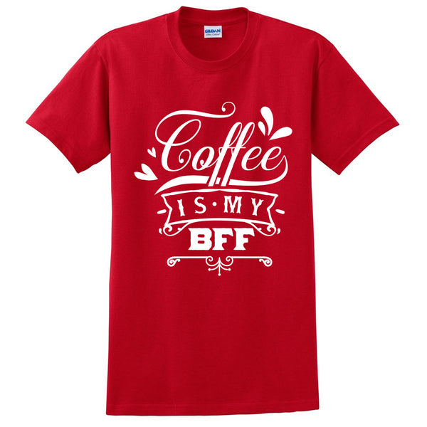 Coffee is my bff t shirt coffee lover shirt morning person tees cute outfit