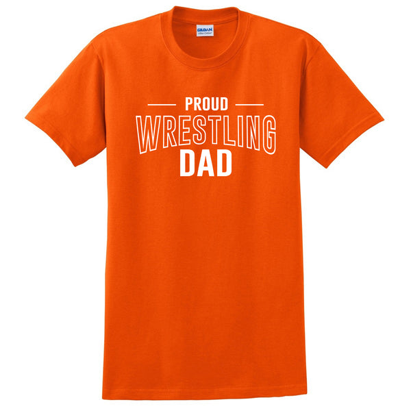Proud wrestling dad  team squad game day sport dad love wretsling Father's day T Shirt