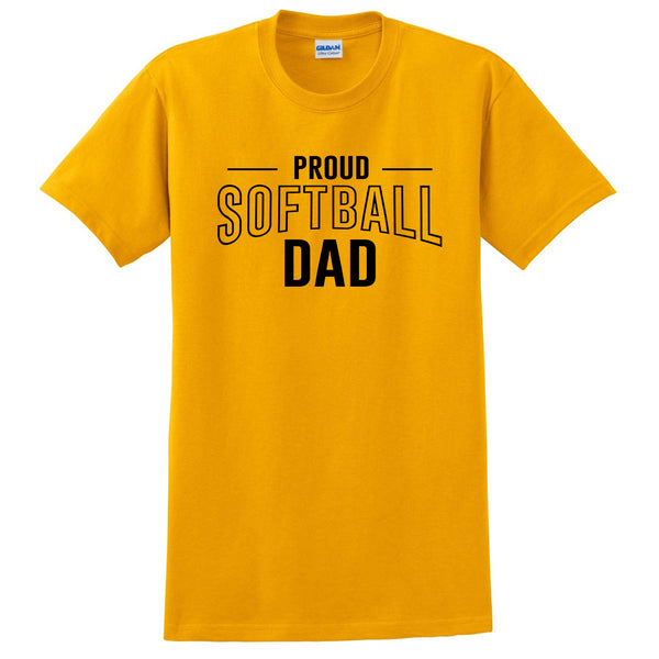 Proud softball dad  team squad game day sport dad love softball  Father's day T Shirt