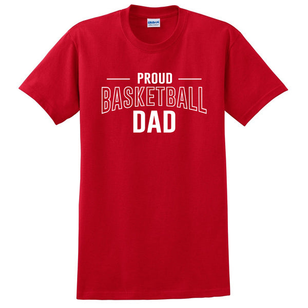Proud basketball dad  team squad game day sport dad love basketball Father's day T Shirt