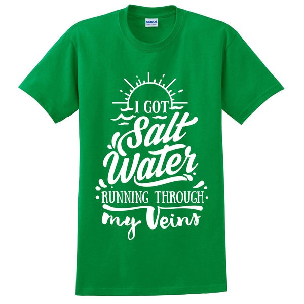 I got salt water running through my veins t shirt funny summer vacation shirt tshirts