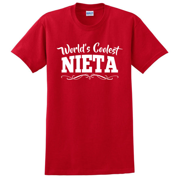 World's coolest nieta birthday gift from grandparents best granddaughter ever gift ideas for her T Shirt
