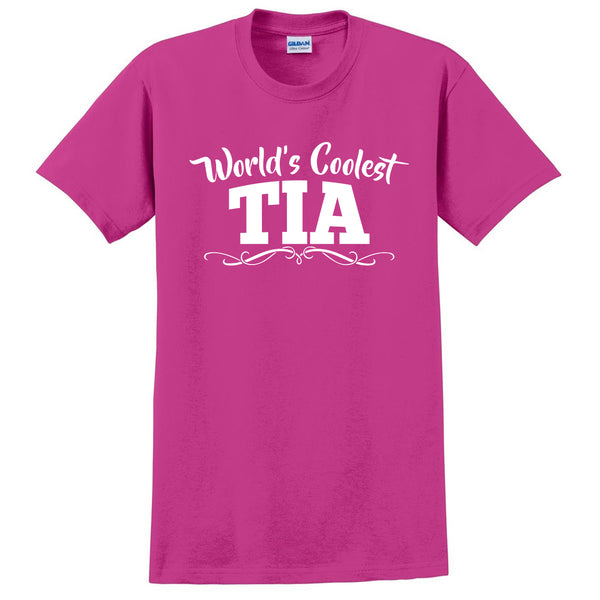 World's coolest tia  Mother's day  birthday gift ideas for her number one auntie  the best aunt T Shirt