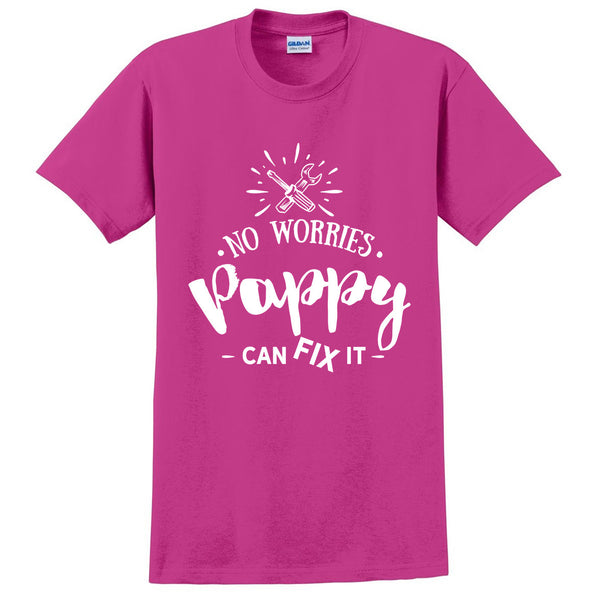 No worries pappy can fix it t shirt grandfather grandpa shirt birthday xmas gifts