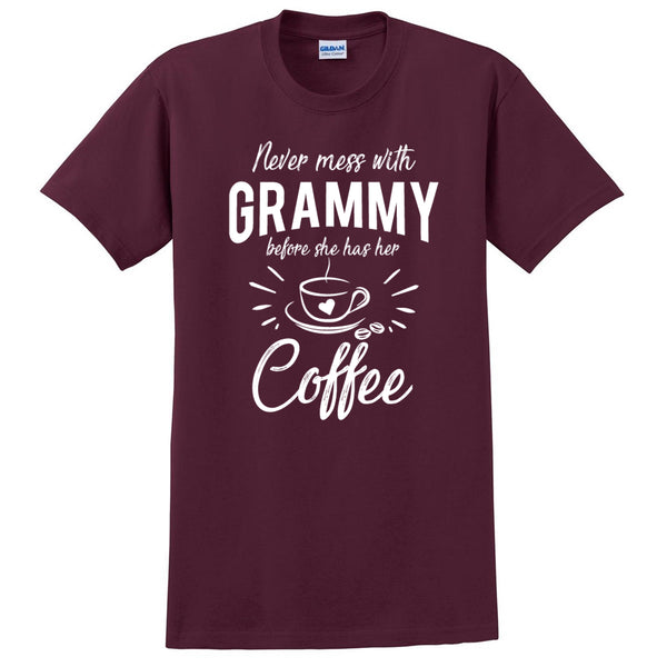 Never mess with grammy before she has her coffee t shirt, funny gift ideas, grandparents day, gift for mom, grandma, grandmother