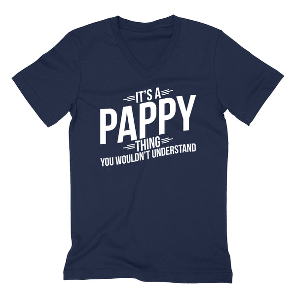 It's a pappy thing you wouldn't understand  father's day birthday Christmas xmas  V Neck T Shirt