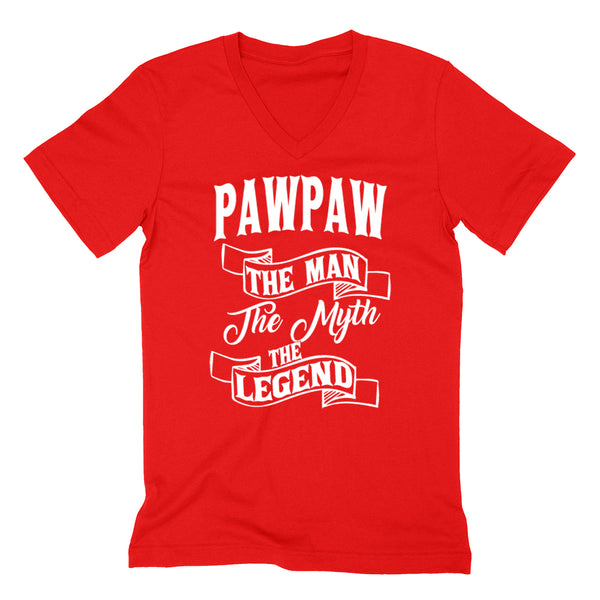 Pawpaw the man the myth the legend   birthday father's day Christmas xmas gift ideas for him V Neck T Shirt