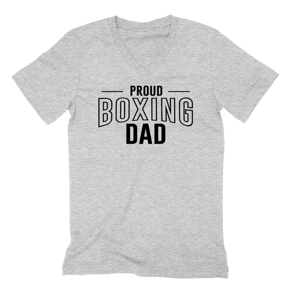 Proud boxing dad  team squad game day sport dad  love box Father's day  V Neck T Shirt