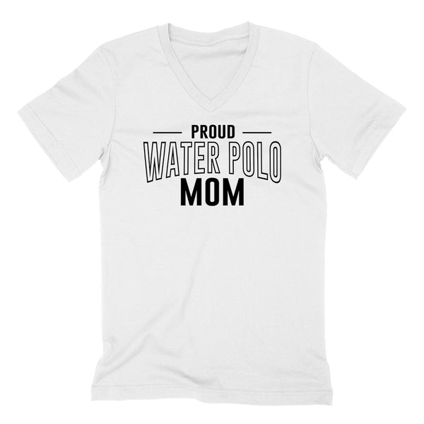 Proud water polo mom team squad game day sport mom love water polo Mother's day  V Neck T Shirt