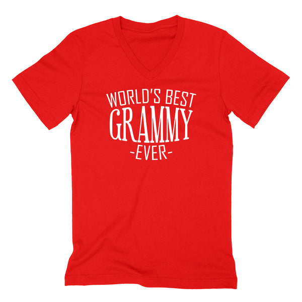 World's best grammy ever  family mother's day  birthday christmas  gift ideas  best grandma  grandmother  V Neck T Shirt