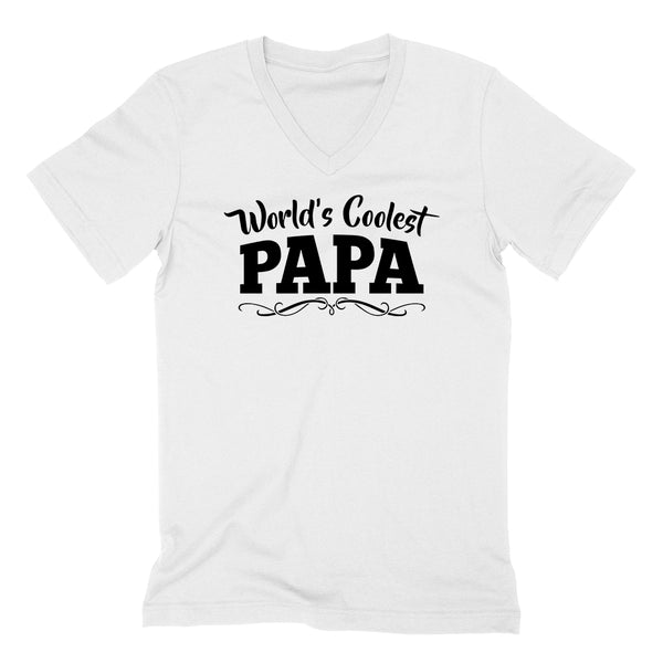 World's coolest papa Father's day birthday gift ideas for new grandpa proud grandfather gifts for him  V Neck T Shirt