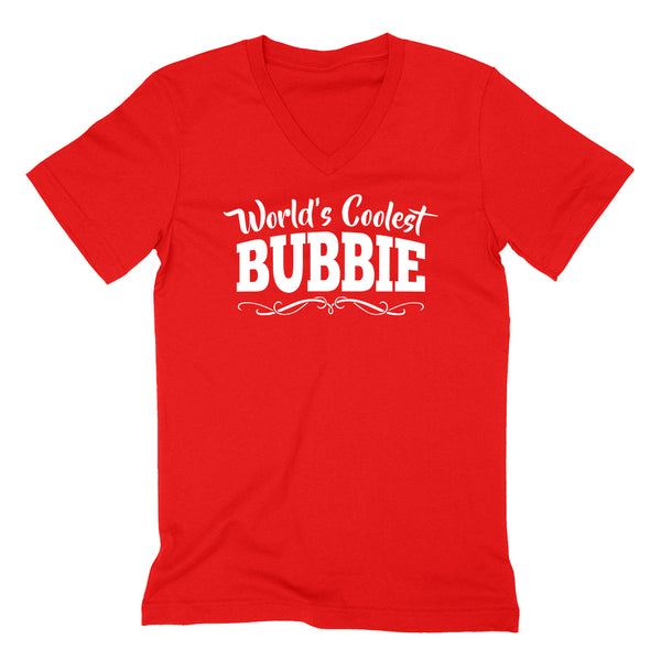 World's coolest bubbie Mother's day birthday gift ideas for new grandma proud grandmom gifts for her  V Neck T Shirt