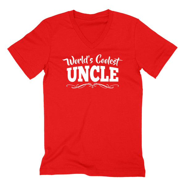 World's coolest uncle Father's day birthday gift ideas for him number one uncle the best uncle  V Neck T Shirt