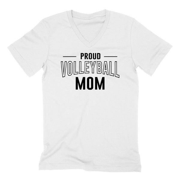 Proud volleyball mom team squad game day sport mom love volleyball  Mother's day  V Neck T Shirt