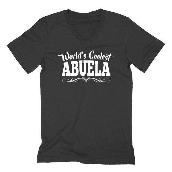 World's coolest abuela Mother's day birthday gift ideas for new grandma proud grandmom gifts for her  V Neck T Shirt