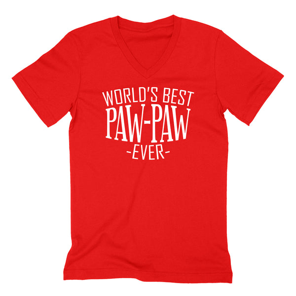 World's best paw paw ever family father's day birthday christmas  gift ideas  best grandpa  grandfather  V Neck T Shirt