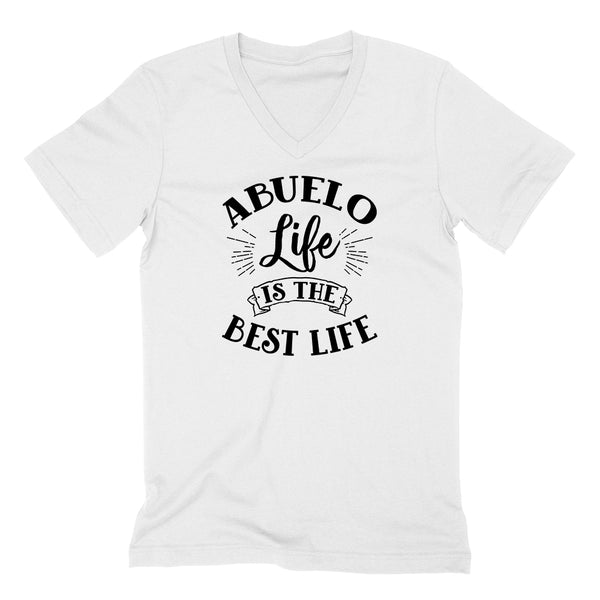 Abuelo life is the best life gift for grandpa grandfather poppy  V Neck T Shirt