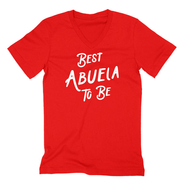 Best  abuela to be, pregnancy announcement for grandparents  V Neck T Shirt