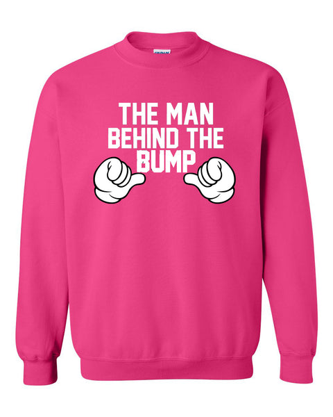 The man behind the bump Crewneck Sweatshirt