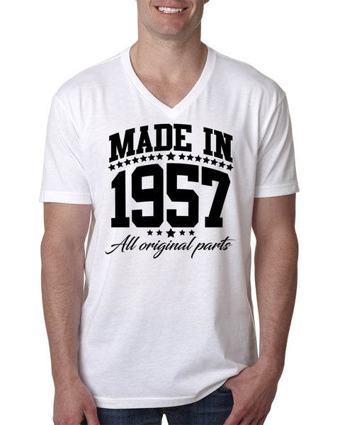 Made in 1957 all original parts V Neck T Shirt