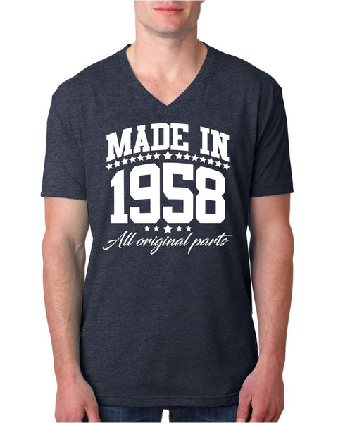 Made in 1958 all original parts V Neck T Shirt