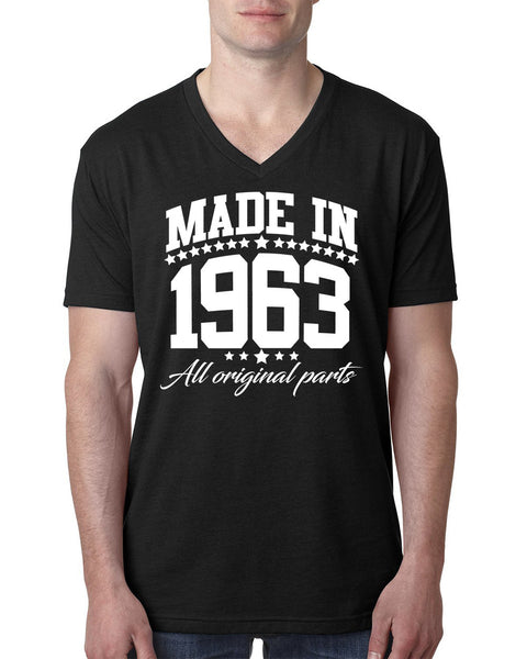 Made in 1963 all original parts V Neck T Shirt