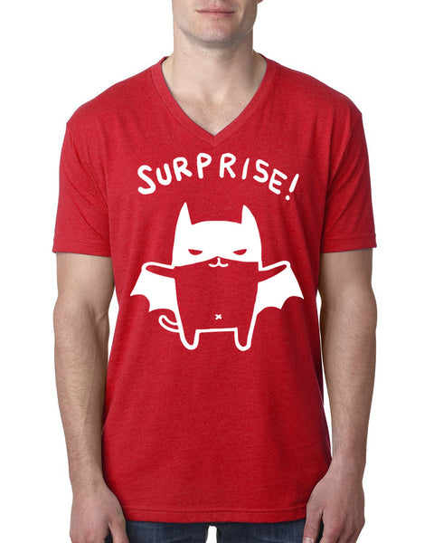 Surprise V Neck T Shirt