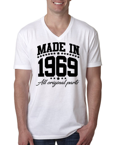 Made in 1969 all original parts V Neck T Shirt