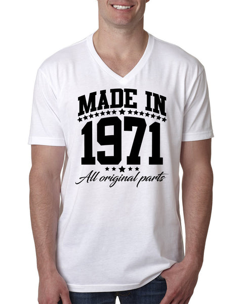 Made in 1971 all original parts V Neck T Shirt