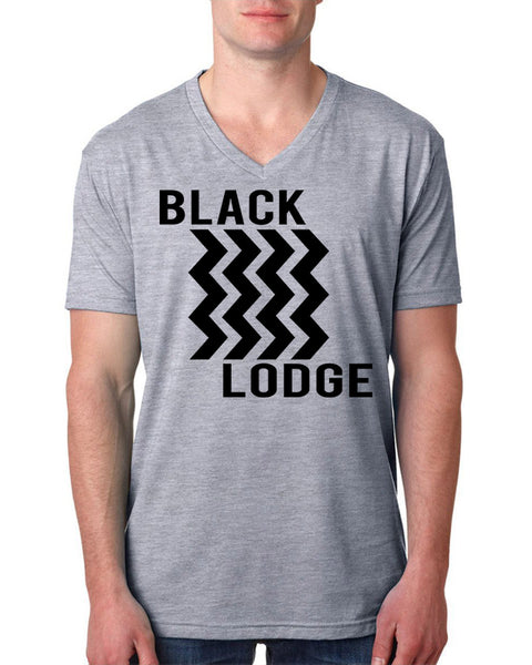 Black lodge V Neck T Shirt