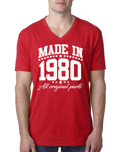 Made in 1980 all original parts V Neck T Shirt