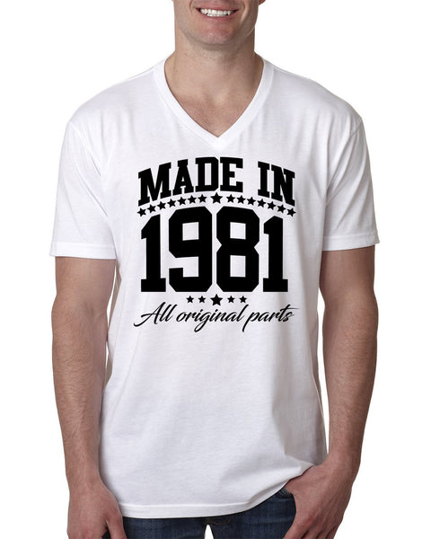 Made in 1981 all original parts V Neck T Shirt