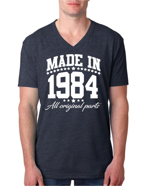 Made in 1984 all original parts V Neck T Shirt