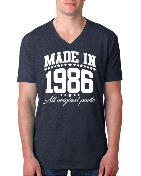 Made in 1986 all original parts V Neck T Shirt