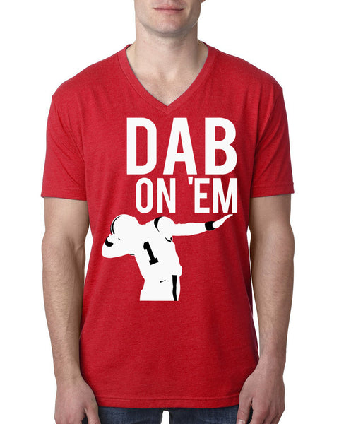 Dab on em V Neck T Shirt